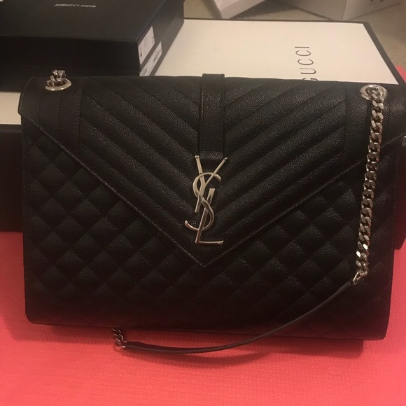 Yves Saint Laurent Bags   Large Envelope Ysl Bag Never Used   Poshmark 575bed5684